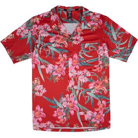 Race Face Torres Technical Button Up Shortsleeve Shirt Men, czerwony